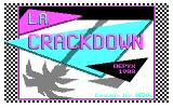 L.A. Crackdown DOS title screen - CGA