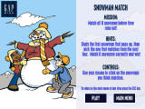 Snow Day: The GapKids Quest Windows Snowman Match instruction screen