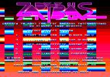 Zap't'Balls Amstrad CPC Flashy title screen