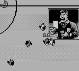 World Cup USA 94 Game Boy The referee shows the yellow card.