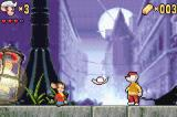An American Tail: Fievel's Gold Rush Game Boy Advance You use your hat to take out enemies.