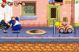 Popeye: Rush for Spinach Game Boy Advance Wimpy tries to catch up as Bluto (now turned into a turkey) trails behind.