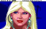 Leisure Suit Larry III: Passionate Patti in Pursuit of the Pulsating Pectorals DOS Close-up on Tawni: quite the hottie