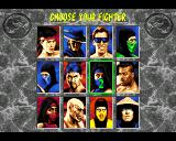 Mortal Kombat II Amiga Choose your fighter