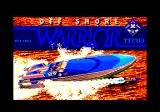 Off Shore Warrior Amstrad CPC Loading screen