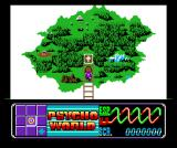 Psychic World MSX Lucia finds an item and you get an overview of the psycho world