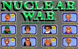 Nuclear War Amiga Select your four opponents!