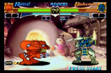 Night Warriors: Darkstalkers' Revenge SEGA Saturn Huitzel the robot vs Bishaman the ghostly samurai