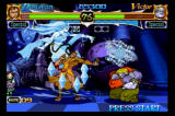 Night Warriors: Darkstalkers' Revenge SEGA Saturn Donovan vs. Victor, Donovan summons a snow spirit to help him