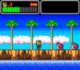 Wonder Boy III: Monster Lair TurboGrafx CD Attacked by mean-looking snails.