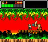 Wonder Boy III: Monster Lair TurboGrafx CD Fighting some cobras in level two.