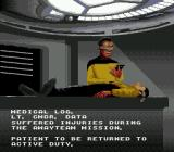 Star Trek: The Next Generation - Echoes from the Past Genesis Data got damaged during combat
