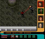 Star Trek: The Next Generation - Echoes from the Past SNES Riker attacking a Romulan