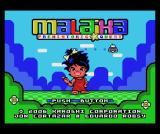 Malaika: Prehistoric Quest MSX Title screen