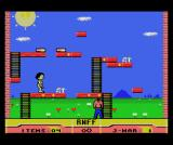 RNFF: Running Naked in a Field of Flowers MSX Take the mushrooms to jump up to the left platform