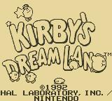 Kirby's Dream Land Game Boy Title Screen