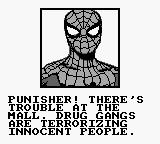 The Punisher: The Ultimate Payback! Game Boy Spider-Man is asking for Punisher's help for some reason