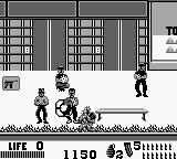 The Punisher: The Ultimate Payback! Game Boy You generally want to avoid having this many enemies at once.  Shoot the gun symbol on the left to replenish ammo
