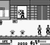 The Punisher: The Ultimate Payback! Game Boy Enemies pop out of windows and such