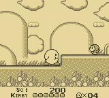Kirby's Dream Land Game Boy Kirby has swallowed an enemy.