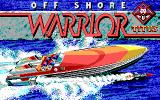 Off Shore Warrior DOS Title screen