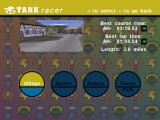 Tank Racer Windows selecting a track