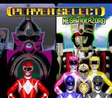 Mighty Morphin Power Rangers: The Fighting Edition SNES Character selection (Story Mode).
