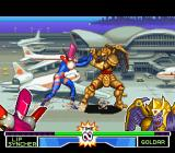 Mighty Morphin Power Rangers: The Fighting Edition SNES Lipsyncher and Goldar are both measuring forces in a strengthful-punch-grabbing duel: who will win?