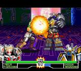 Mighty Morphin Power Rangers: The Fighting Edition SNES Shogun Megazord was so distracted that didn't noticed Mega Tigerzord using his Energy Ball move...