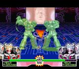 Mighty Morphin Power Rangers: The Fighting Edition SNES Both Mega Tigerzords are about to end the power-up version of their punching moves: advantage to P2?