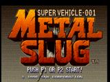 Metal Slug: Super Vehicle - 001 PlayStation Title screen