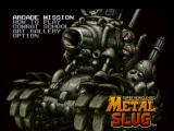 Metal Slug: Super Vehicle - 001 PlayStation Main menu
