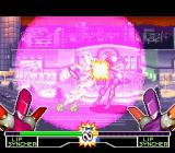 Mighty Morphin Power Rangers: The Fighting Edition SNES P1 Lipsyncher beating P2 Lipsyncher with her Energy Sphere: the shoulder hit is the grand finale!