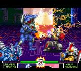 Mighty Morphin Power Rangers: The Fighting Edition SNES Ninja Megazord tried to crouch-block Silver Horns' Lightning Strike, but he fails in the H-hour...