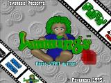 Lemmings 3D SEGA Saturn The title screen. This one runs in some odd resolution, so there is a line or two missing.