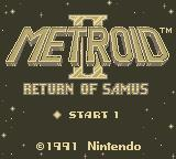 Metroid II: Return of Samus Game Boy Title Screen