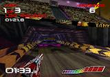 WipEout SEGA Saturn Entering a tunnel.