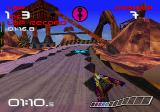 WipEout SEGA Saturn The track scenery is pretty impressive for a 1995 game.