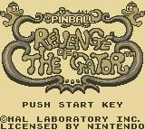 Revenge of the 'Gator Game Boy Title Screen