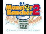 Monster Rancher 2 PlayStation Main menu