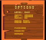 Lucky Luke SNES Options Screen