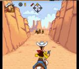 Lucky Luke SNES Chasing Daltons in Canyon...