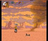 Lucky Luke SNES Running away from Tornado...