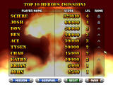 Heavy Weapon Deluxe Windows High score screen