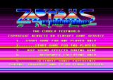 Zap't'Balls: The Advanced Edition Amstrad CPC The main menu with raster bars