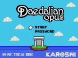 Daedalian Opus MSX Title screen