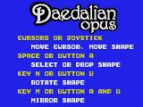 Daedalian Opus MSX Instructions