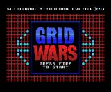 Grid Wars MSX Title screen
