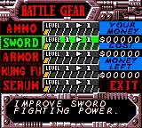 Blade Game Boy Color Here are Blade's weapons