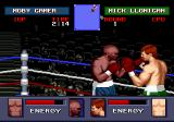 "Evander Holyfield's ""Real Deal"" Boxing Genesis The fighters study each other movements (or, the person taking screenshots can't fight and take at the same time)."